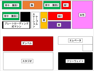 ゴールドジム原宿東京 3階 マシン