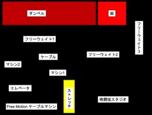 ゴールドジム原宿東京 B2階 マシン